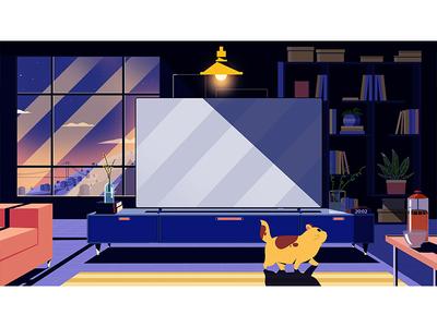 room conceptart concept cat character drawing graphic artwork characterdesign illustration stillframe vector