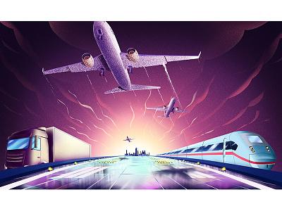 plane purple art vector conceptart concept artsy stillframe artwork animation illustration plane