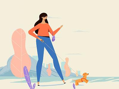 girls concept artwork conceptart graphic design dog girl boss art character characterdesign artsy stillframe vector illustration