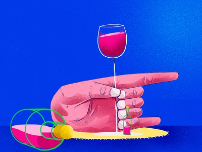 seven fingers design concept wine artsy artwork conceptart vector illustration stillframe hand fingers