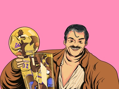 Jerry buss basketball sports artsy characterdesign stillframe vector character artwork losangeles los angeles lakers lakers la conceptart illustration jerry buss