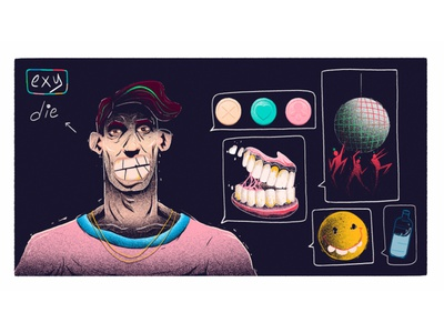 candyboy design artwork hipster stillframe vector characterdesign illustration cartoon party candy character