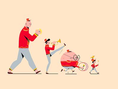 band characterdesign music red bands bando conceptart character illustration band