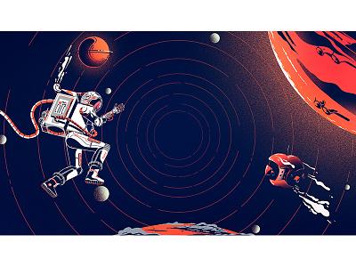 space concept conceptart artwork astronaut stillframe characterdesign artsy illustration mars space