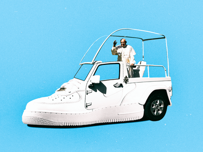 AIR FORCE 1 (POPE CAR MIX) flat italy air force white street fashion sneaker shoes nike pope design collage composition minimal car illustration art