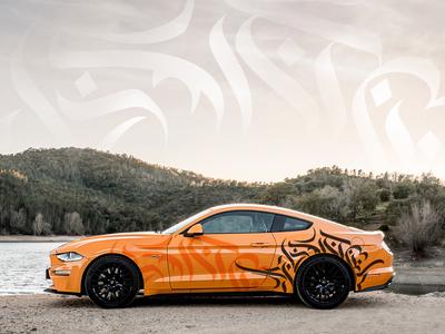 Calligraffiti on Mustang