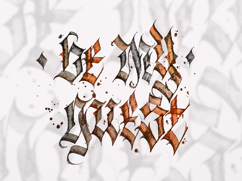 By My Guest letters writing calligrafuturism handmade design brand gothic letters lettering typography calligrafia calligraphy calligraffiti