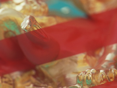 Tiger & Snake - Snake blue red dof materials lines gold snake tiger cycles blender 3d