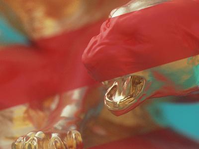 Tiger & Snake - Tiger blue red dof materials lines gold snake tiger cycles blender 3d