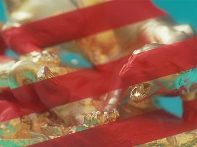 Tiger & Snake blue red dof materials lines gold snake tiger cycles blender 3d