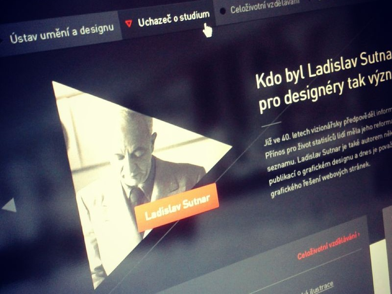 Institute of Art webdesign design web ladislav sutnar