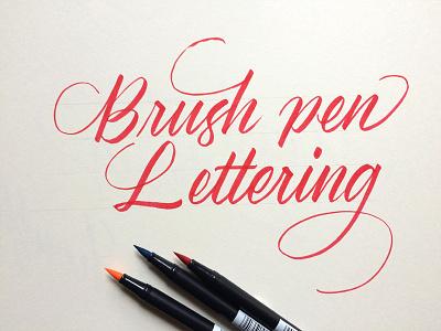 Brush Pen Calligraphy cover workshop brushpen