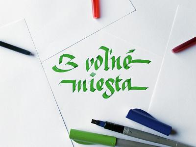 """3 places left"" Broad Nib Calligraphy calligraphy broadnib"