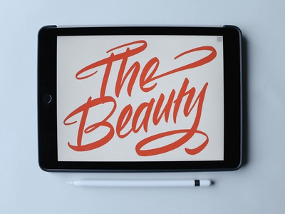 The Beauty of iPad Calligraphy