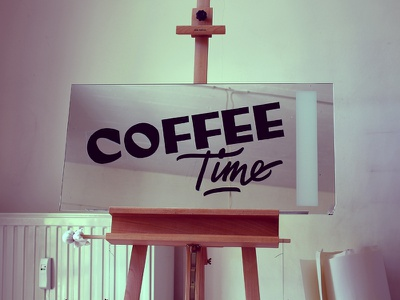 Coffee Time Sign Painting coffeetime signwriting signpainting