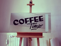 Coffee Time Sign Painting