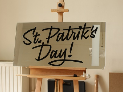 St Patriks Day – Sign Painting script signpainting signwriting