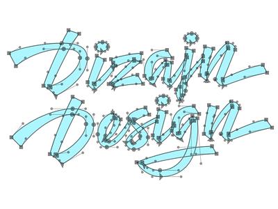 New DizajnDesign logo – bezier curves type typography graphicdesign lettering logo logodesign logos script logotype design brand redesign
