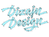 New DizajnDesign logo – bezier curves