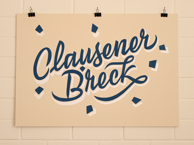 Clausener Bréck Sign Painting clause luxembourg typography signs handpainted signpainter sign lettering handmade handlettering type signpainting