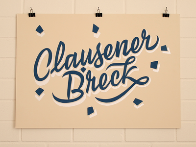 Clausener Bréck Sign Painting