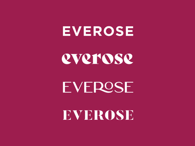 Everose india tea flower rose logo