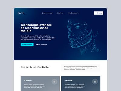 Face_   Home exploration ui blue startup digital adobexd webdesign