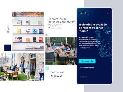 Face_   Homepage webdesign webdesign ui startup digital blue adobexd