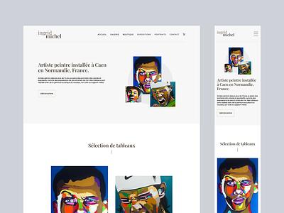 Ingrid Michel   Homepage webdesign uidesign ui mobile desktop painter art artist webdesign adobexd
