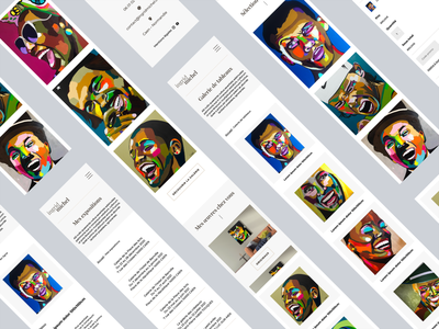 Ingrid Michel   Smartphone screens webdesign uidesign ui painter mobile desktop artist art adobexd
