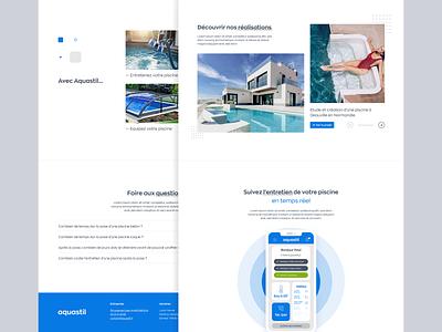 Aquastil Piscines & Spas webdesign uidesign adobexd outdoor water sauna spa swimming pool