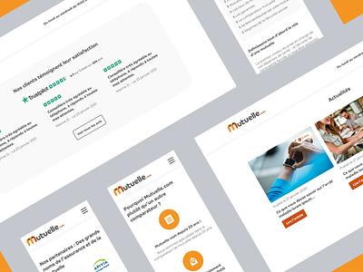 Webdesign Mutuelle.com figma insurance website webdesign health