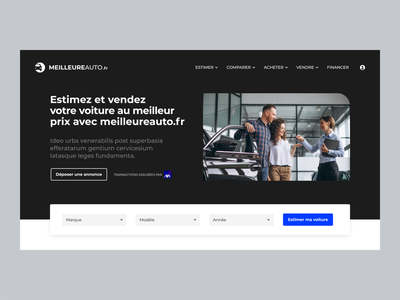 Webdesign Meilleureauto.fr responsive uidesign automobile automotive webdesign adobexd car