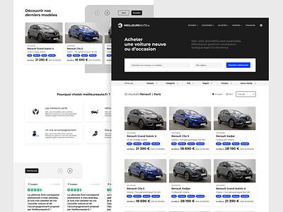 Webdesign Meilleureauto.fr car adobexd webdesign automotive automobile uidesign responsive