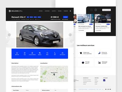 Webdesign Meilleureauto.fr cartoon responsive uidesign automotive automobile webdesign adobexd car