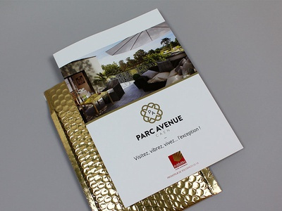Real estate brochure luxury gold print brochure realestate