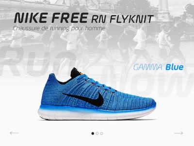 Product showcase slider blue product showcase nike shoes