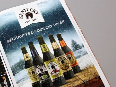 Winter beer advertising print winter usa beer alltech kentucky
