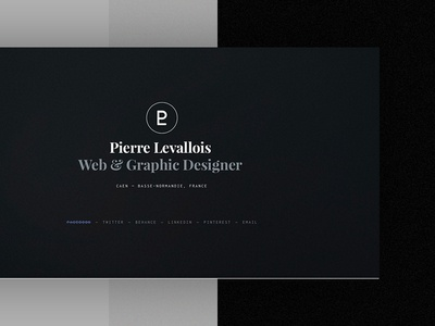 Personal Landing Page front-end webdesign designer homepage landingpage