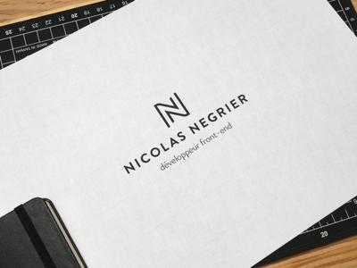 Nicolas Negrier logo (Web Developer) minimal developer branding logo