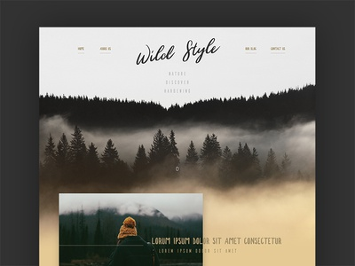 Wild (part 1) handwriting forest template adobexd webdesign wild