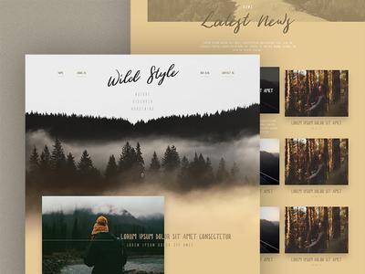 Wild (part 2) wild webdesign adobexd template forest handwriting