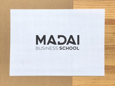 MADAI Business School logo proposal typography minimalist business school logotype logo