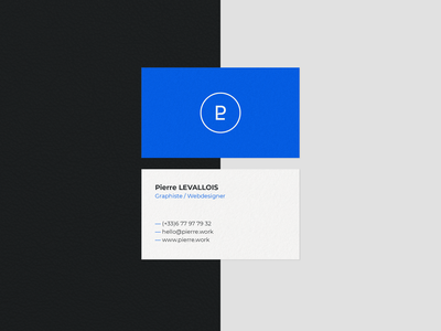 New personal business card print design logo blue minimalist design business card