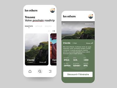 French roadtrips app 🏕 french wild travel roadtrips roadtrip mobile app ux ui mobile uxdesign uidesign adobexd