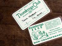 Ticonderoga Club Member Cards