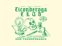 Ticonderoga Club Member Card Illustration
