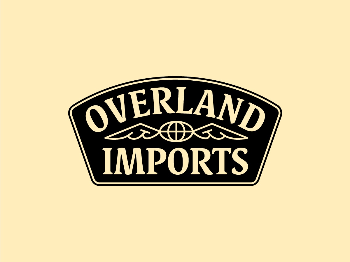 Overland Imports Badge identity patch logo wings globe 4x4 trucks badge