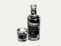 Old Fourth Distillery Bourbon Illustration