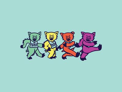 Fox Bros. Dancing Pigs